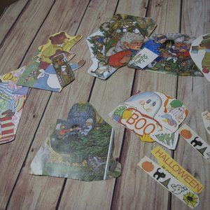 Lot of 21 Holiday Themed Book Clippings Paper